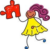 Bambino di puzzle Immagini Stock