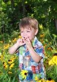Bambino di risata Fotografie Stock Libere da Diritti