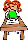 Bambino di scrittura Immagini Stock
