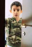 Bambino di sguardo serio Fotografia Stock