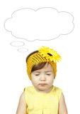 Bambino di sogno divertente isolato su bianco Fotografia Stock Libera da Diritti