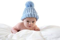 Bambino di tre mesi con la protezione Fotografia Stock Libera da Diritti