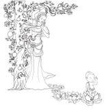 Bambino disegnato a mano Buddha sopportato con Lotus e la madre Fotografie Stock