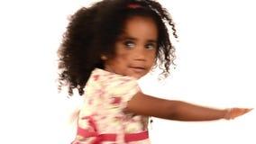 Bambino divertente di dancing video d archivio