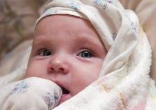Bambino dopo il bagno Immagine Stock