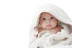 Bambino dopo il bagno. Fotografie Stock