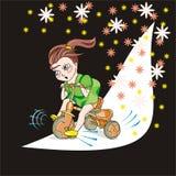 Bambino e bicicletta Fotografie Stock