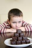Bambino e cioccolato Fotografia Stock Libera da Diritti