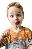 Bambino e cioccolato Fotografie Stock Libere da Diritti