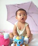 Bambino e giocattoli belli Immagine Stock Libera da Diritti