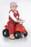 Bambino e giocattolo - automobile Fotografia Stock Libera da Diritti
