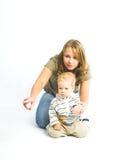 Bambino e madre Fotografia Stock Libera da Diritti