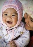 Bambino e madre Vietnam Fotografia Stock Libera da Diritti