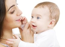 Bambino e mama Fotografia Stock Libera da Diritti