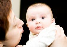 Bambino e mamma Fotografia Stock