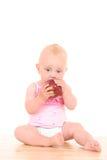 Bambino e mela Fotografie Stock Libere da Diritti