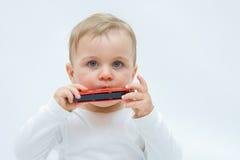Bambino e musica Fotografia Stock