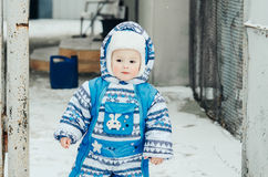 bambino e neve Immagine Stock