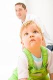 Bambino e padre Immagine Stock