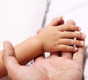 Bambino e padre Fotografia Stock Libera da Diritti