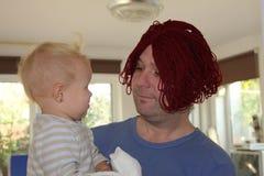 Bambino e padre Fotografie Stock Libere da Diritti
