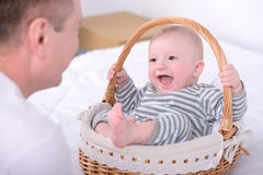 Bambino e papà Fotografia Stock