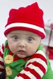 Bambino e presente festivi Fotografia Stock
