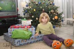 Bambino e regali Immagine Stock Libera da Diritti