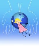Bambino ed il mondo illustrazione vettoriale