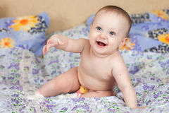 Bambino felice Fotografia Stock Libera da Diritti