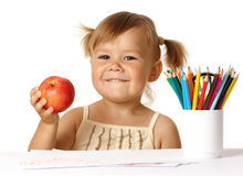 Bambino felice in addestramento preliminare immagini stock libere da diritti
