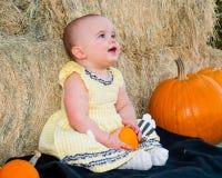 Bambino felice in autunno Immagine Stock