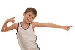Bambino felice ballante Fotografia Stock Libera da Diritti