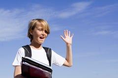 Bambino felice del banco Immagine Stock Libera da Diritti