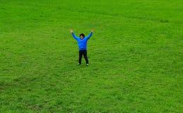 Bambino felice e libero Fotografie Stock Libere da Diritti