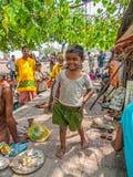 Bambino felice in Haridwar Fotografia Stock