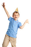 Bambino felice nella protezione Immagini Stock