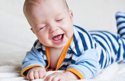 Bambino felice sveglio Immagine Stock