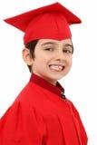 Bambino fiero del laureato di asilo Fotografie Stock