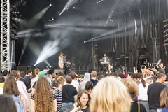 Bambino Francescoli di musica di festival di concerto Immagini Stock