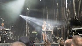 Bambino Francescoli di musica di festival di concerto Fotografia Stock