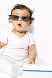 Bambino freddo Fotografie Stock