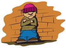 Bambino freddo Fotografia Stock Libera da Diritti