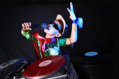 Bambino freddo DJ Fotografia Stock Libera da Diritti