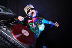 Bambino freddo DJ Immagini Stock