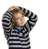 Bambino frustrato arrabbiato del ragazzo Fotografie Stock Libere da Diritti