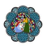 Bambino Gesù dell'ornamento del vetro macchiato Fotografia Stock