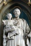 Bambino Gesù della tenuta di Saint Joseph Immagine Stock Libera da Diritti