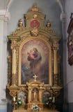 Bambino Gesù della tenuta di Saint Joseph Immagini Stock