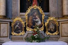 Bambino Gesù della tenuta di Saint Joseph Fotografia Stock